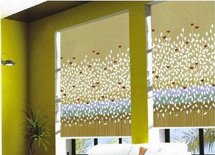 Rèm cuốn chống nắng họa tiết mẫu 3